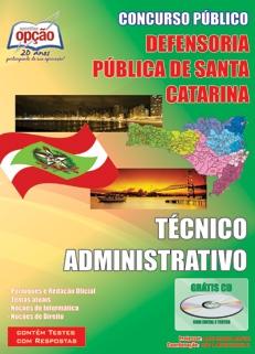 Defensoria Pública de Santa Catarina-TÉCNICO ADMINISTRATIVO