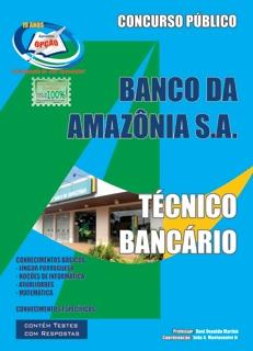 Banco da Amazônia S/A-TÉCNICO BANCÁRIO