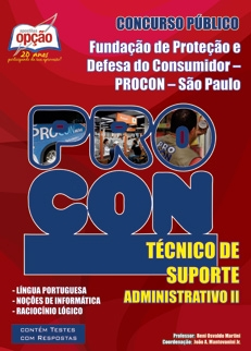 Procon - SP-TÉCNICO DE SUPORTE ADMNISTRATIVO II
