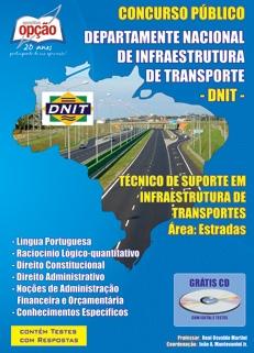 DNIT-TÉCNICO DE SUPORTE EM INFRAESTRUTURA DE TRANSPORTES - ÁREA ESTRADAS