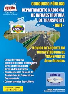 DNIT-TÉCNICO DE SUPORTE EM INFRAESTRUTURA DE TRANSPORTES - ÁREA ESTRADAS-TÉCNICO ADMINISTRATIVO - ÁREA ADMINISTRATIVA