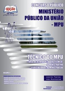 Apostila Ministério Público da União (MPU)-TÉCNICO DO MPU - VOLUME I E II