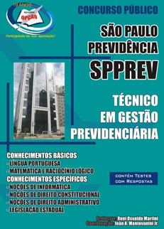 SPPREV/SP-TÉCNICO EM GESTÃO PREVIDENCIÁRIA