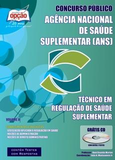 Agência Nacional de Saúde Suplementar (ANS)-TÉCNICO EM REGULAÇÃO DE SAÚDE COMPLEMENTAR - VOLUME II