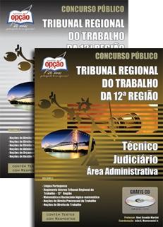 TRT 12ª Região / Santa Catarina-TÉCNICO JUDICIÁRIO - ÁREA ADMINISTRATIVA (JOGO COMPLETO)