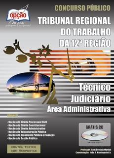 TRT 12ª Região / Santa Catarina-TÉCNICO JUDICIÁRIO - ÁREA ADMINISTRATIVA (VOLUME II)