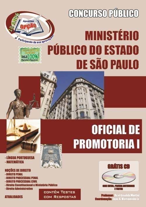 Apostila Oficial De Promotoria I - Concurso Ministério Público / SP...
