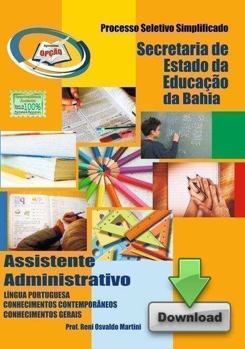 Apostila Educação / Bahia - Concurso Secretaria De Estado De Educação / Ba...