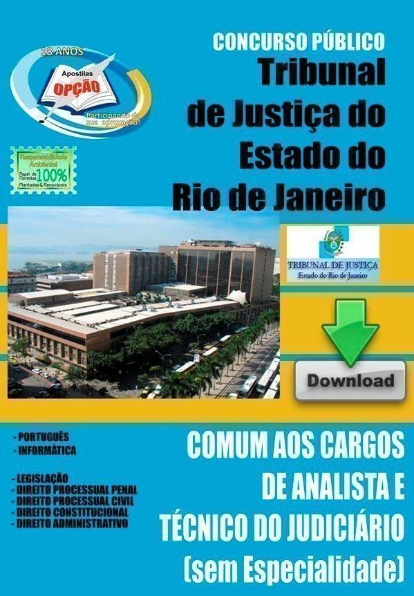 Apostila Técnico E Analista Judiciário  - Concurso Tribunal De Justiça Do Est...