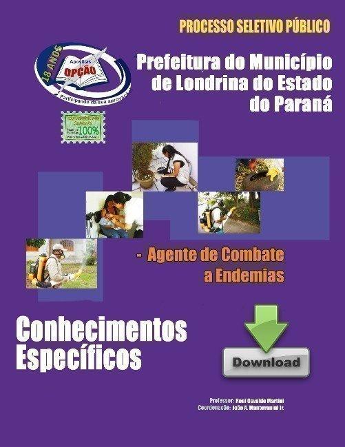 Apostila Agente De Gestão Pública - Serviços De Combate às Endemias - Concur...