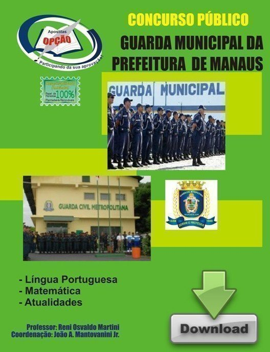 Apostila Guarda Municipal - Concurso Guarda Municipal De Manaus / Am...