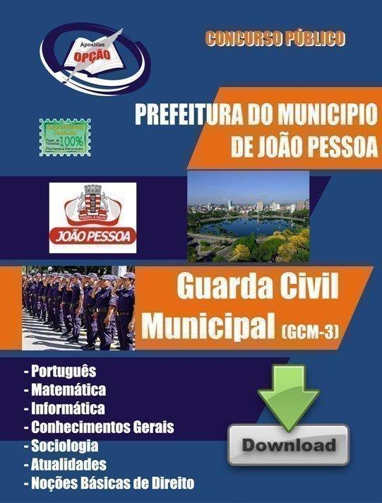 Apostila Guarda Civil Municipal - Concurso Guarda Municipal Do João Pessoa / Pb...