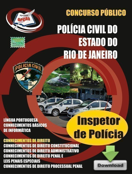 Apostila Inspetor De Polícia - Concurso Polícia Civil / RJ