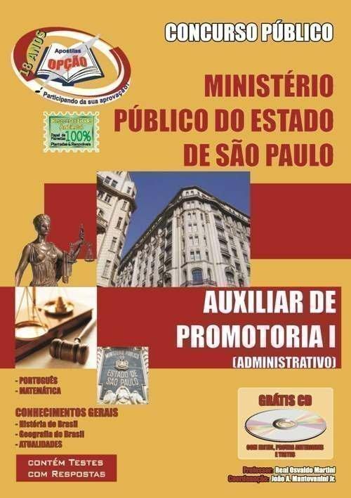 Apostila Auxiliar De Promotoria I - Administrativo - Concurso Ministério Públi...