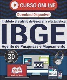 Curso On-Line AGENTE DE PESQUISAS E MAPEAMENTO (Vídeoaula) - Apostila Preparatória IBGE