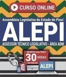 Curso On-Line ASSESSOR TÉCNICO LEGISLATIVO - ÁREA ADMINISTRATIVA - Concurso ALEPI 2020