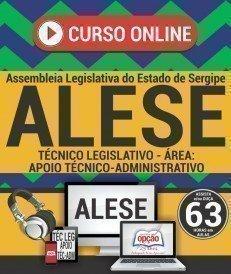 Curso On-Line TÉCNICO LEGISLATIVO - ÁREA APOIO TÉCNICO-ADMINISTRATIVO - Concurso ALESE 2018
