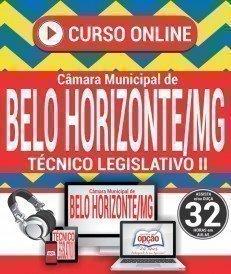 Curso On-Line TÉCNICO LEGISLATIVO II - Concurso Câmara de Belo Horizonte 2018