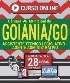 Curso On-Line ASSISTENTE TÉCNICO LEGISLATIVO - AGENTE ADMINISTRATIVO - Concurso Câmara de Goiânia 2018