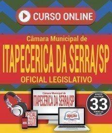 Curso On-Line OFICIAL LEGISLATIVO - Concurso Câmara de Itapecerica da Serra 2018