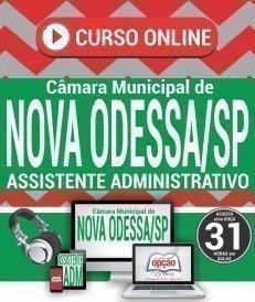 Curso On-Line ASSISTENTE ADMINISTRATIVO - Concurso Câmara de Nova Odessa 2018