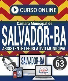 Curso On-Line ASSISTENTE LEGISLATIVO MUNICIPAL - Concurso Câmara de Salvador 2018