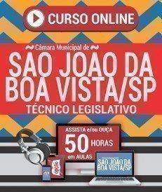Curso On-Line TÉCNICO LEGISLATIVO - Concurso Câmara de São João da Boa Vista 2019