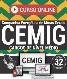 Curso On-Line CARGOS DE NÍVEL MÉDIO - Concurso CEMIG 2018