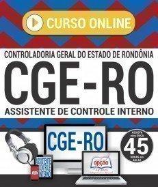 Curso On-Line AUDITOR DE CONTROLE INTERNO - Concurso CGE RO 2018