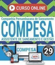 Curso On-Line ASSISTENTE DE GESTÃO E SERVIÇOS COMERCIAIS - Concurso COMPESA 2018