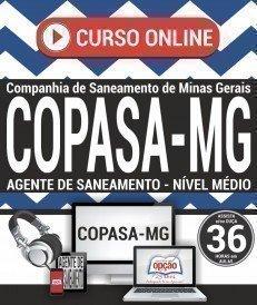 Curso On-Line AGENTE DE SANEAMENTO - MÉDIO - Concurso COPASA 2018