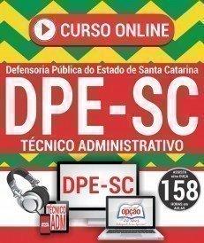 Curso On-Line TÉCNICO ADMINISTRATIVO - Concurso DPE SC 2018