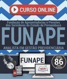 Curso On-Line ANALISTA EM GESTÃO PREVIDENCIÁRIA - Concurso FUNAPE 2017