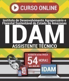 Curso On-Line ASSISTENTE TÉCNICO - Concurso IDAM 2019