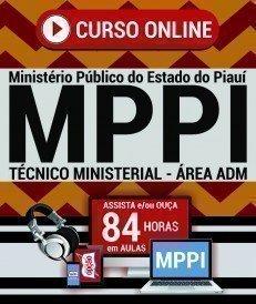 Curso On-Line TÉCNICO MINISTERIAL - ÁREA ADMINISTRATIVA - Concurso MP PI 2018