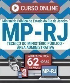 Curso On-Line TÉCNICO DO MINISTÉRIO PÚBLICO - ÁREA ADMINISTRATIVA - Concurso MP RJ 2019