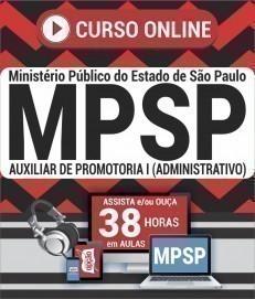 Curso On-Line AUXILIAR DE PROMOTORIA I (ADMINISTRATIVO) - Concurso MP SP 2019