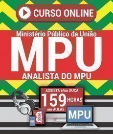 Curso On-Line ANALISTA DO MPU - ESPECIALIDADE: DIREITO - Concurso MPU 2018
