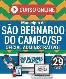 Curso On-Line OFICIAL ADMINISTRATIVO I - Concurso Município de São Bernardo do Campo 2018