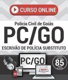 Curso On-Line ESCRIVÃO DE POLÍCIA SUBSTITUTO - Concurso PC GO 2016