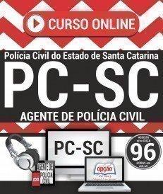 Curso On-Line AGENTE E ESCRIVÃO DE POLÍCIA CIVIL - Concurso PC SC 2017