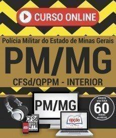 Curso On-Line CURSO DE FORMAÇÃO DE SOLDADOS - INTERIOR - Concurso PM MG 2017