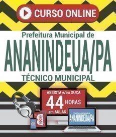 Curso On-Line TÉCNICO MUNICIPAL - Concurso Prefeitura de Ananindeua 2019