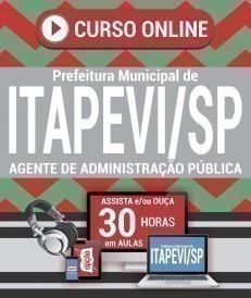 Curso On-Line AGENTE DE ADMINISTRAÇÃO PÚBLICA - Concurso Prefeitura de Itapevi 2019