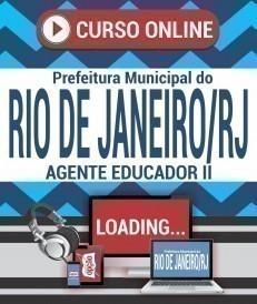Curso On-Line AGENTE EDUCADOR II - Concurso Prefeitura do Rio de Janeiro 2019