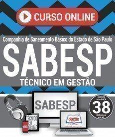 Curso On-Line TÉCNICO EM GESTÃO - Concurso SABESP 2018