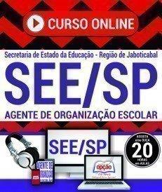 Curso On-Line AGENTE DE ORGANIZAÇÃO ESCOLAR - Concurso SEE SP Jaboticabal 2017