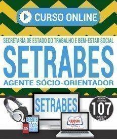 Curso On-Line AGENTE SÓCIO-ORIENTADOR - Concurso SETRABES 2018