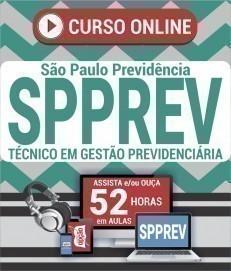 Curso On-Line TÉCNICO EM GESTÃO PREVIDENCIÁRIA - Concurso SPPREV 2019