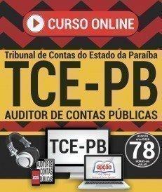 Curso On-Line AUDITOR DE CONTAS PÚBLICAS - Concurso TCE PB 2018